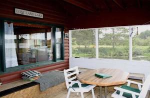 Lagoon Cabin porch